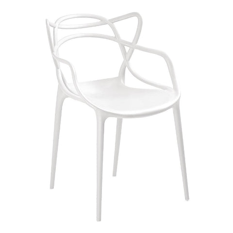 Bolero Spaghetti Style Armchairs White (Pack of 4) (Pack of 4)