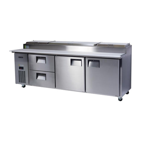 Skope Centaur 2 Door 2 Drawer Pizza Prep Counter Fridge