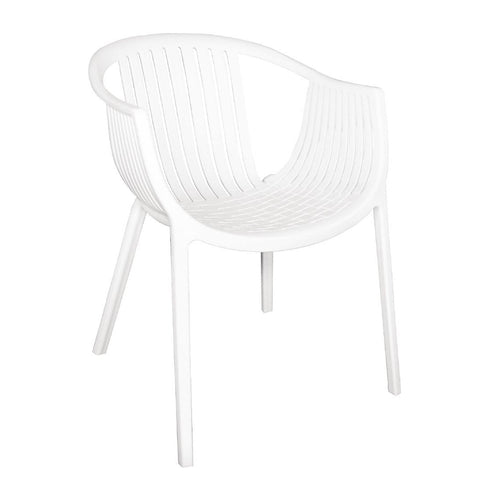 Bolero White Polypropylene Tub Chairs (Pack of 4) (Pack of 4)