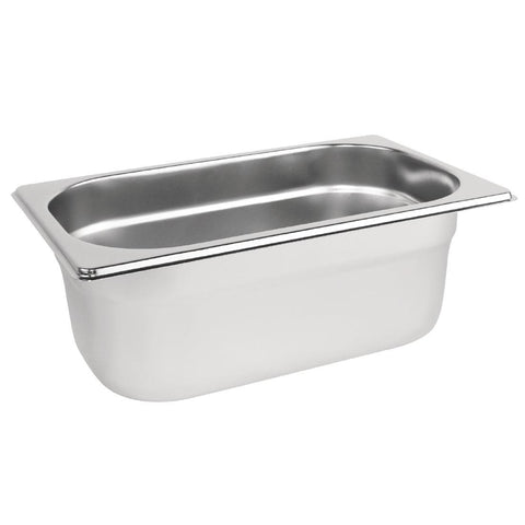 Vogue Stainless Steel 1/4 Gastronorm Pan 100mm