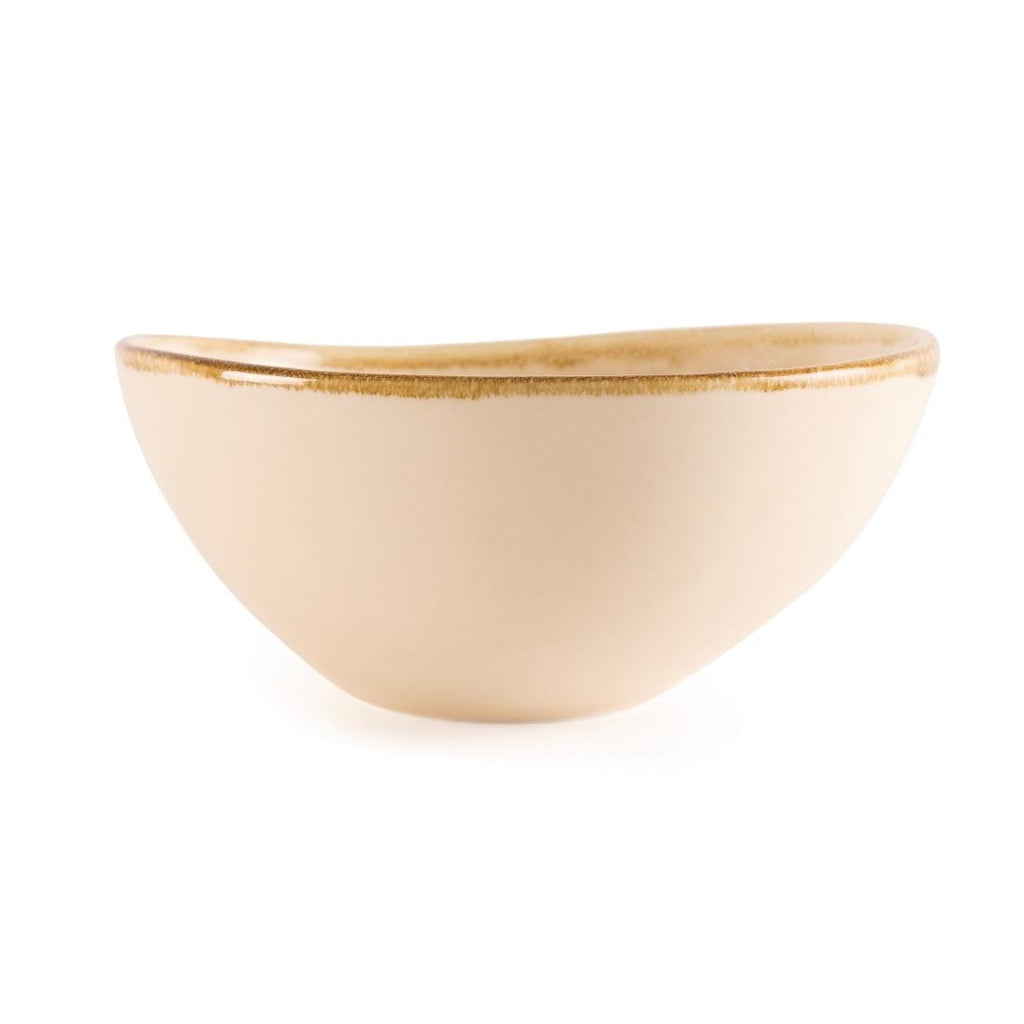 Olympia Kiln Bowl Sandstone 215mm (Pack of 4)