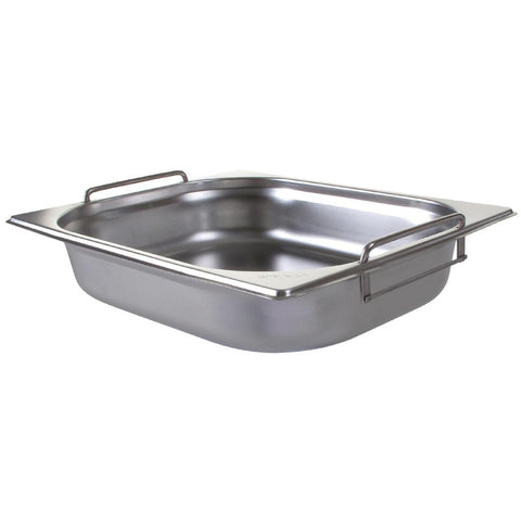 Vogue Stainless Steel 1/2 Gastronorm Pan with Handles 65mm