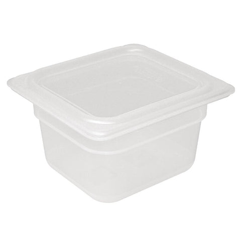 Vogue Polypropylene Gastronorm Pan 1/6 with Lid 100mm (Pack of 4)