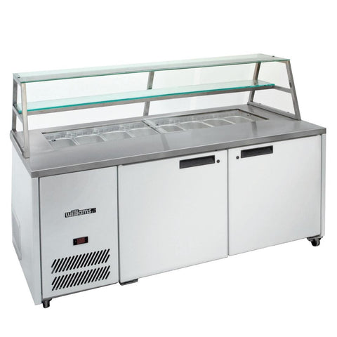 Williams 2 Door Sandwich and Prep Counter With Canopy HJ2SCBA Stainless Steel