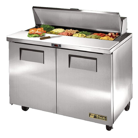 True Salad Prep Counter 2 Door 340 Ltr Stainless Steel