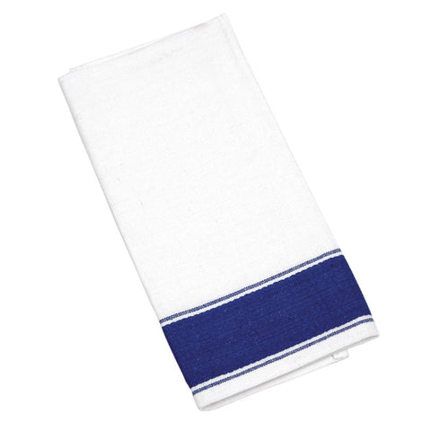 Olympia Gastro Napkins with Blue Border (Pack of 10)