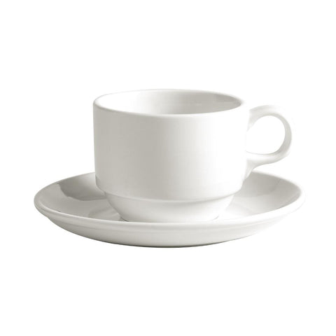 Australian Fine China Bistro Stacking Tea Cups 220ml (Pack of 36)
