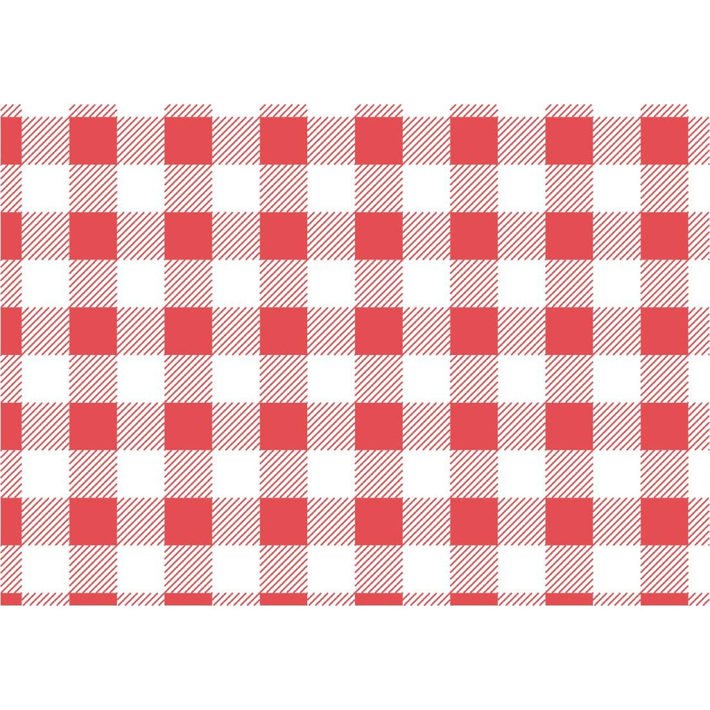 Red Gingham Greaseproof Paper 250x250mm (Pack of 200)