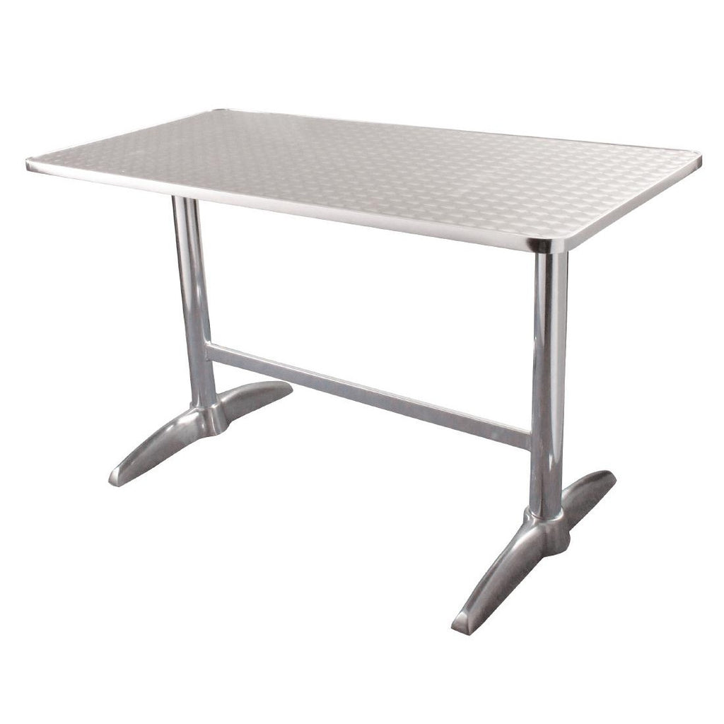 Bolero Double Pedestal Table Rectangular 600mm