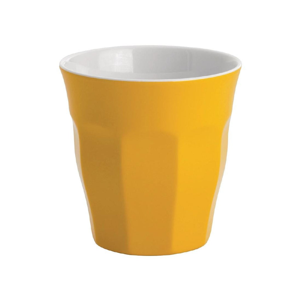 JAB Gelato Melamine Tumbler 300ml Yellow (Pack of 12)