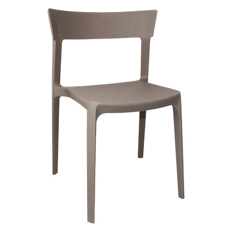 Bolero Coffee Polypropylene Bistro Side Chairs (Pack of 4) (Pack of 4)
