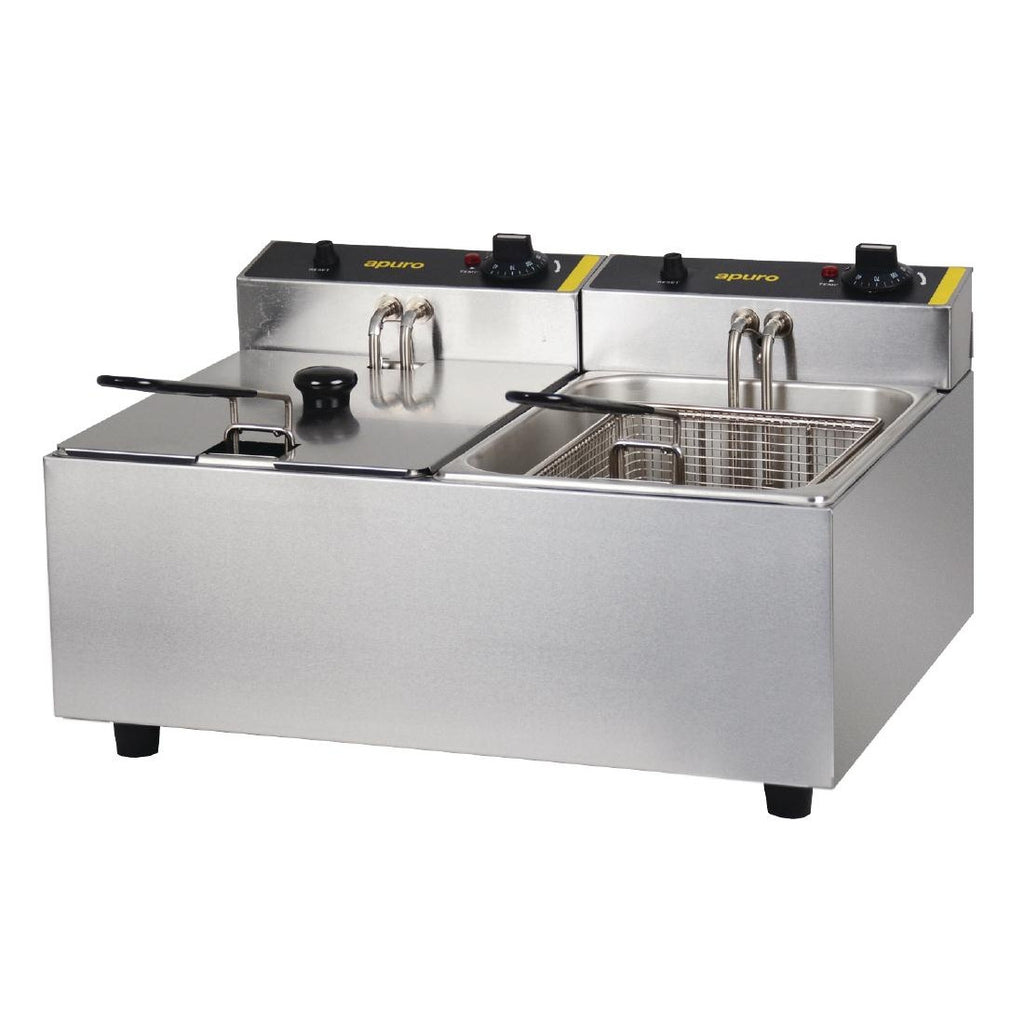 Apuro Double Basket Deep Fryer