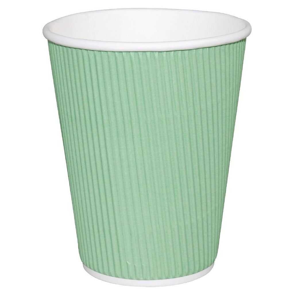 Fiesta Takeaway Coffee Cups Ripple Wall Turquoise 225ml x500 (Pack of 500)