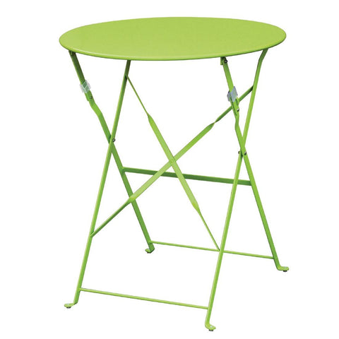 Bolero Green Pavement Style Steel Table 595mm