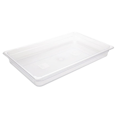 Vogue Polycarbonate 1/1 Gastronorm Container 65mm Clear