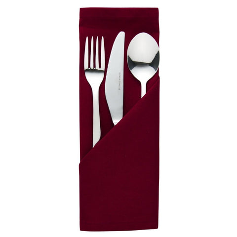 Palmar Polyester Burgundy Napkin (Pack of 10)