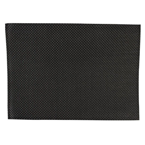 APS PVC Black Placemat (Pack of 6)