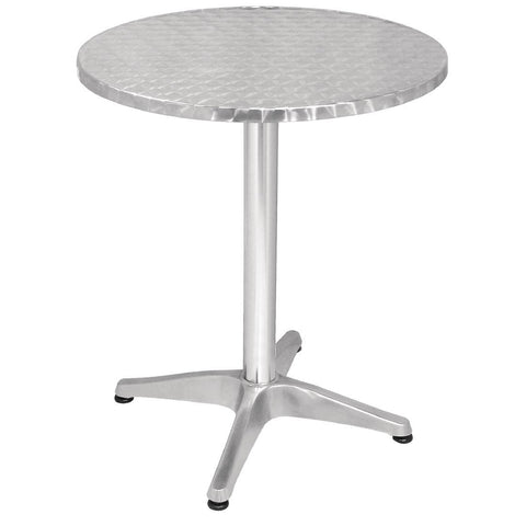 Bolero Round Bistro Table Stainless Steel 600mm
