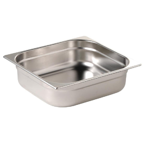 Vogue Stainless Steel 1/2 Gastronorm Pan 150mm
