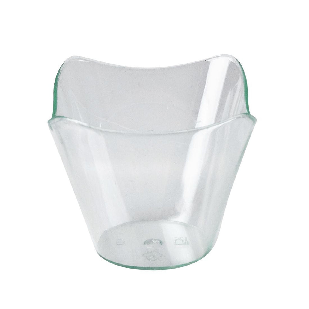 Disposable Canape Dish Square Waved Rim (Pack of 25)
