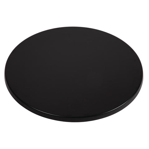 Werzalit Round Table Top Black 800mm