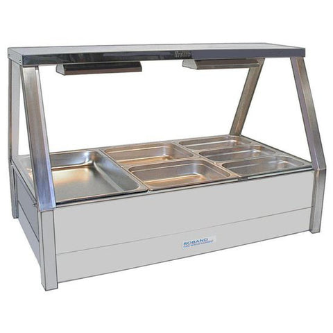 Roband Hot Food Display Bar with Roller Doors