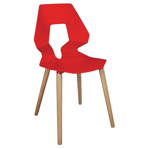 Bolero Red Polypropylene Angel Chairs (Pack of 4) (Pack of 4)