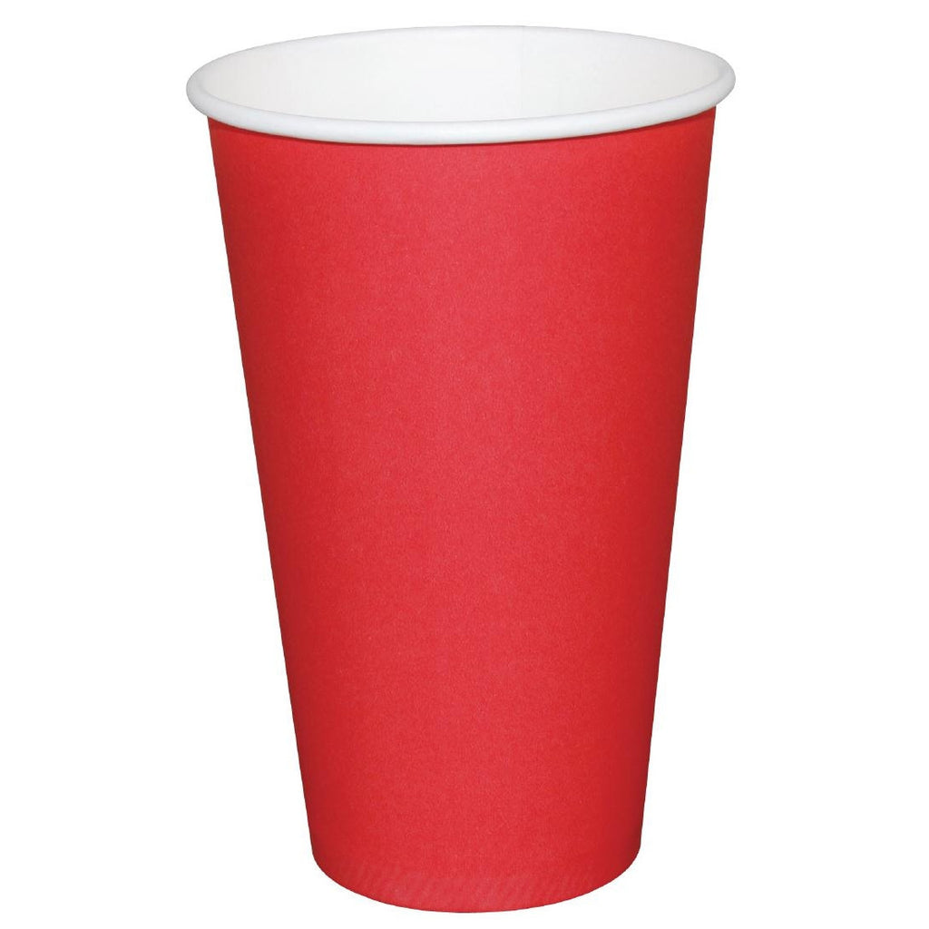 Fiesta Takeaway Coffee Cups Single Wall Red 450ml x1000 (Pack of 1000)