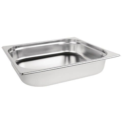 Vogue Stainless Steel 2/3 Gastronorm Pan 65mm