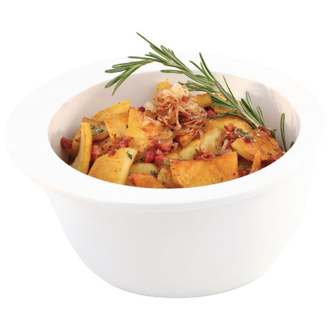 APS Apart Melamine Bowl White 150mm