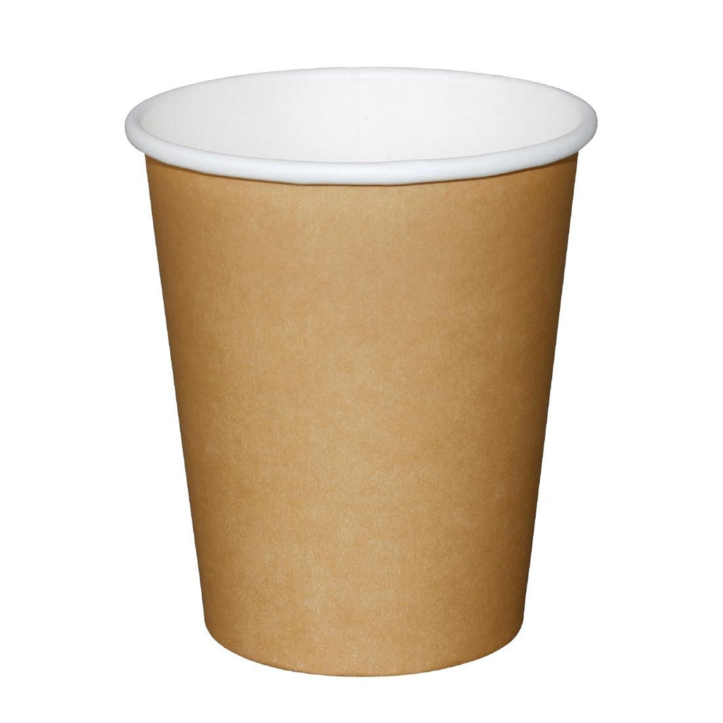 Fiesta Disposable Brown Hot Cups 225ml x1000 (Pack of 1000)