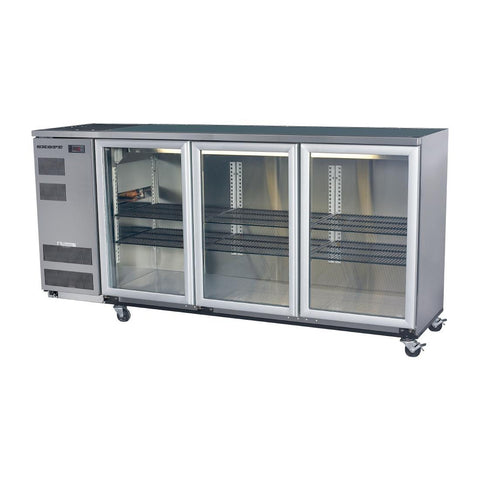 Skope Back Bar Cooler with Three Hinged Doors BB580X