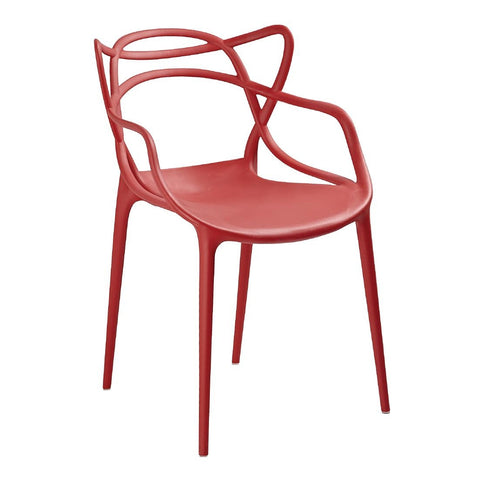 Bolero Spaghetti Style Armchairs Red (Pack of 4) (Pack of 4)