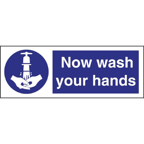 Now Wash Your Hands Symbol Sign