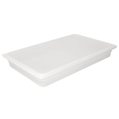 Vogue Polypropylene Gastronorm Pan 1/1 with Lid 100mm (Pack of 2)