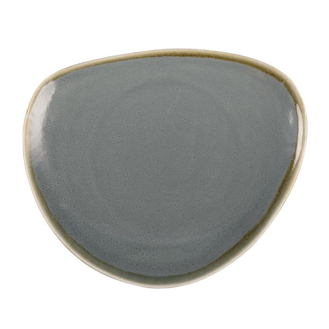 Olympia Kiln Triangular Plate Ocean 230mm (Pack of 6)