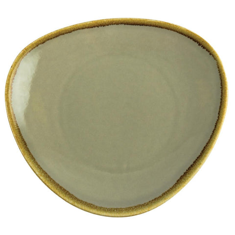 Olympia Kiln Triangular Plate Moss 280mm (Pack of 4)
