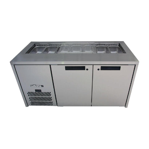 Williams 2 Door Stainless Steel Under Counter Fridge HO2UFBBA