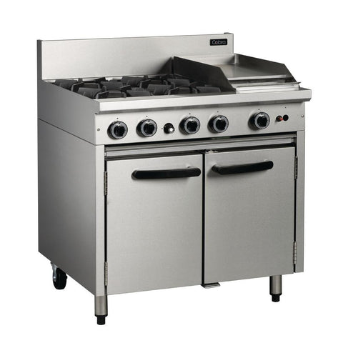 Cobra by Moffat 4 Burner Propane Gas Oven Range with Griddle Plate BR9C