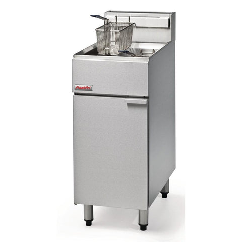 FastFri by Moffat Freestanding Propane Gas Single Pan Double Basket 18Ltr Deep Fryer FF18