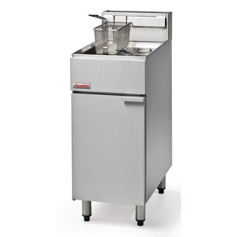 FastFri by Moffat Freestanding Natural Gas Single Pan Double Basket 18Ltr Deep Fryer FF18