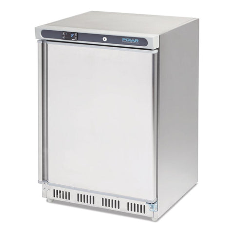 Polar Undercounter Freezer 140Ltr Stainless Steel