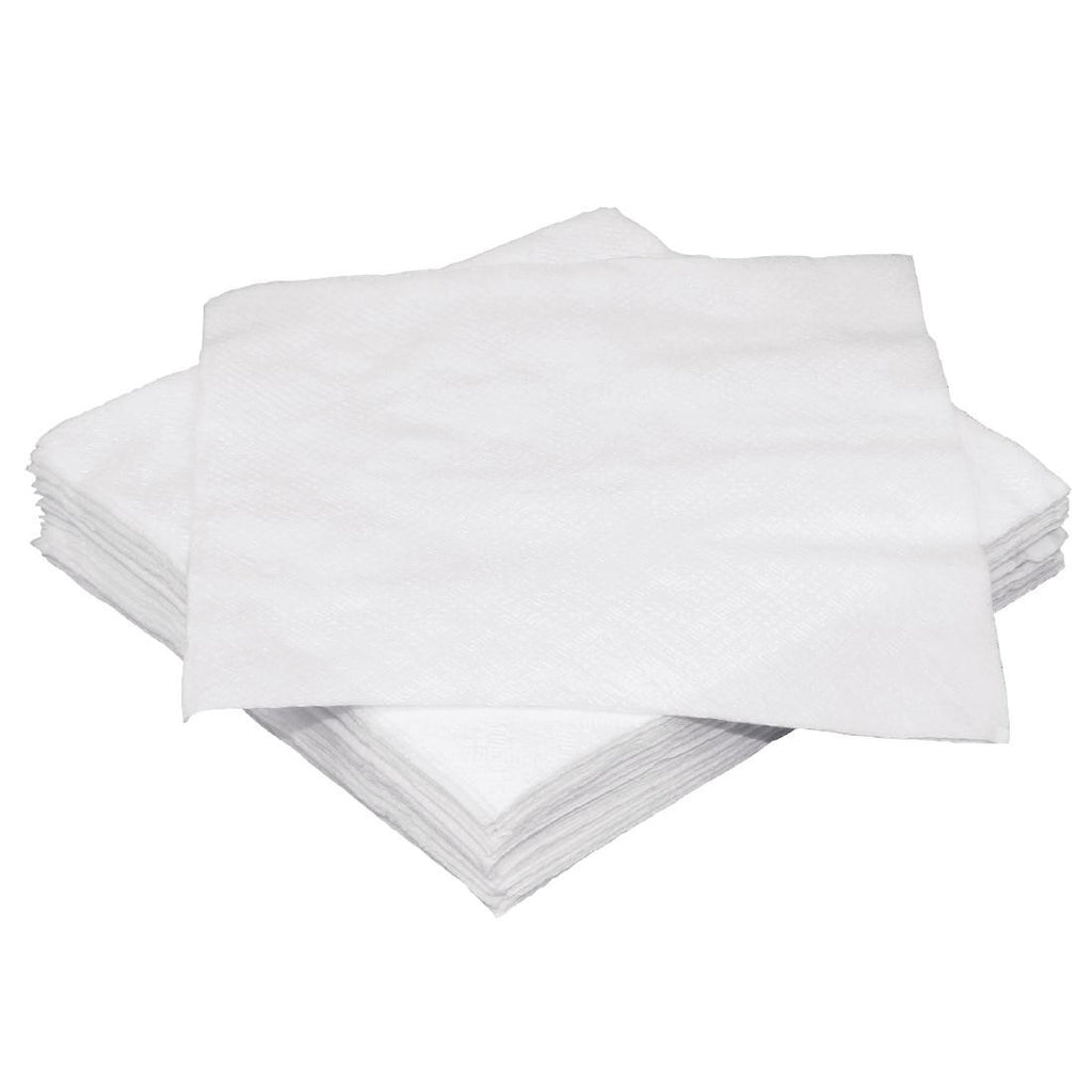 Fiesta White Cocktail Napkin 250 x 250 mm (Pack of 2000)