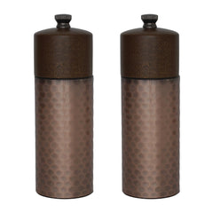 Olympia Copper Wood Salt and Pepper Mill Set (Pack of 2)