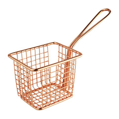 Olympia Square Presentation Basket With Handle Copper