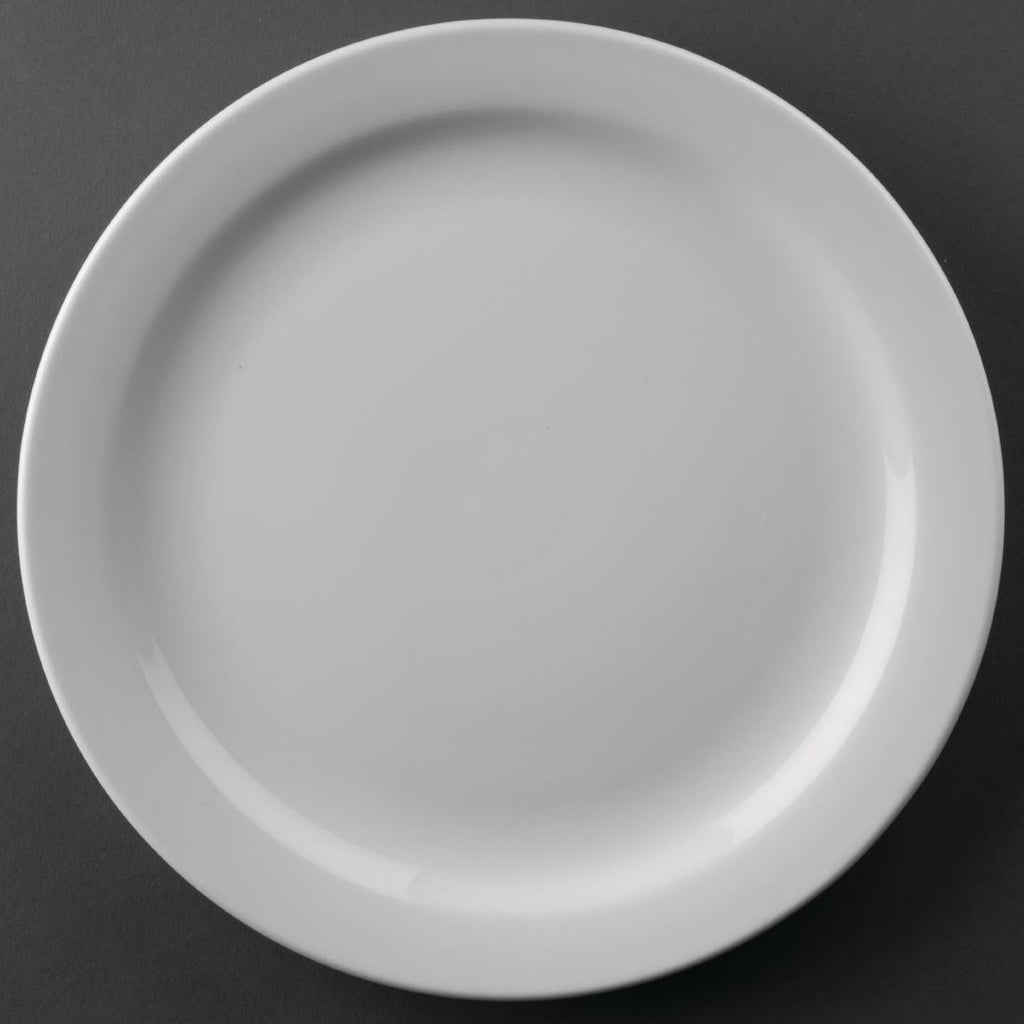 Athena Hotelware Narrow Rimmed Plates 226mm (Pack of 12)