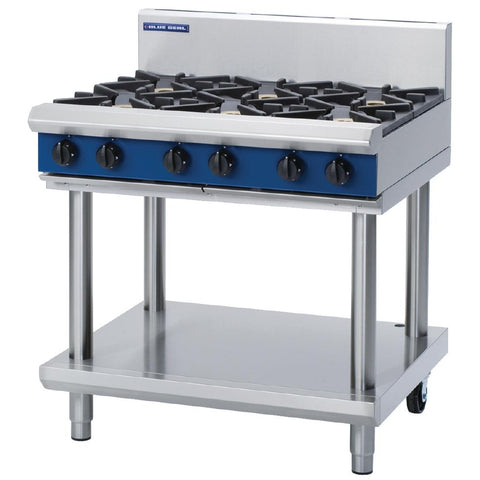 Blue Seal by Moffat Evolution Cooktop 6 Open Burners Nat Gas on Stand 900mm G516D-LS