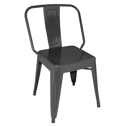 Bolero Steel Bistro Side Chairs Black (Pack of 4) (Pack of 4)