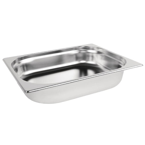 Vogue Stainless Steel 1/2 Gastronorm Pan 40mm