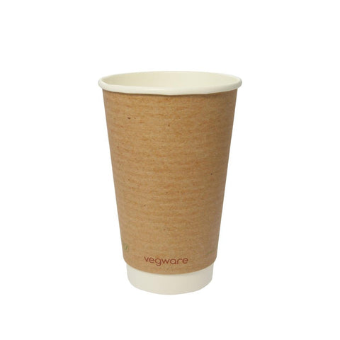 Vegware Compostable Double Wall Hot Cup 455ml (Pack of 500)